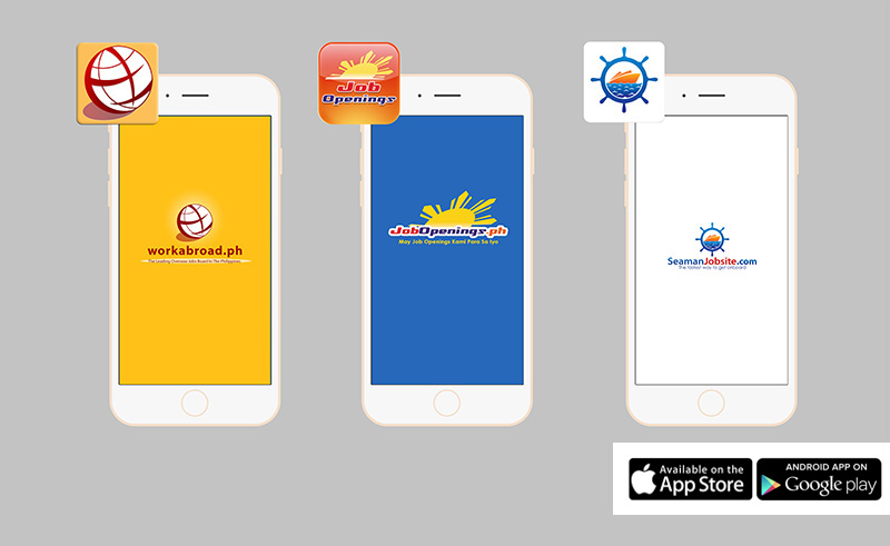 Workabroad Mobile App, Jobopenings Mobile App, Seamanjobsite Mobile App